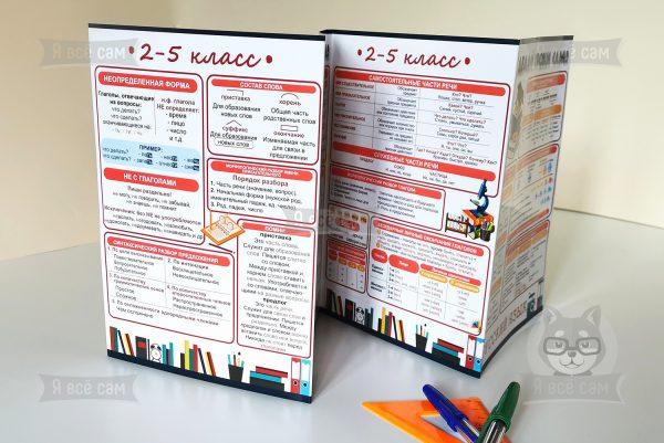 Буклет «Делай уроки сам» для 2-5 классов. Русский язык и Математика