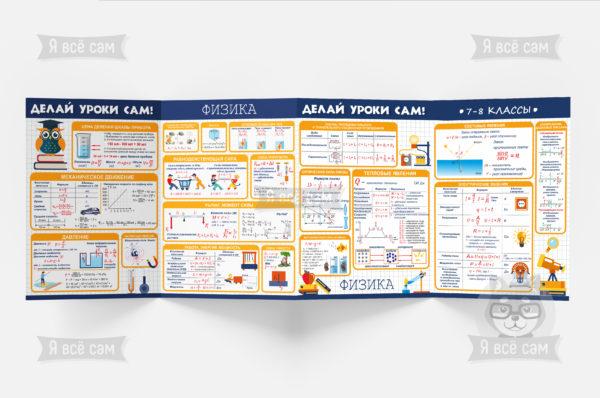 Буклет «Делай уроки сам» для 7-8 классов. Физика и Химия