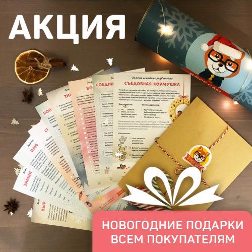 АКЦИЯ: Новогодние подарки КАЖДОМУ покупателю!